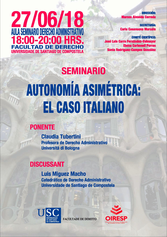 Seminario: Autonomía asimétrica: El caso italiano - OIRESP